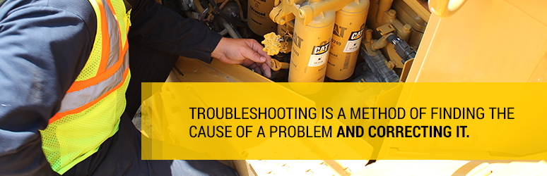 Troubleshooting is a method of finding the cause of a problem and correcting it