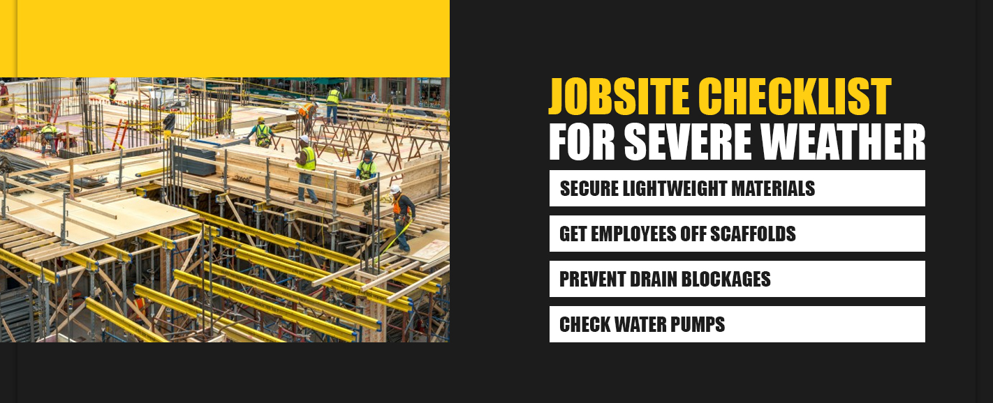 Jobsite Checklist for Severe Weather