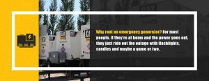 Why rent an emergency generator?
