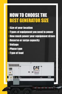How to Choose the Best Generator Size