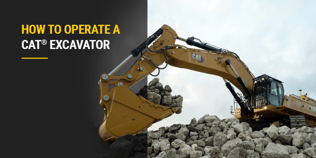 How to Operate a Cat Excavator